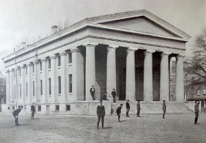 Norfolk Academy photo of the 1804 Greek Temple building in downtown Norfolk.